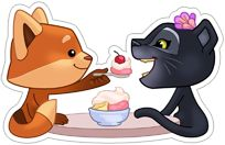 Viber sticker Eve and Freddie In Love 06026