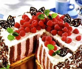 Торт «Розовая зебра»