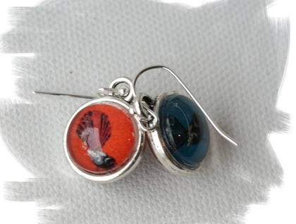 dangly double sided bubble earrings - fantail