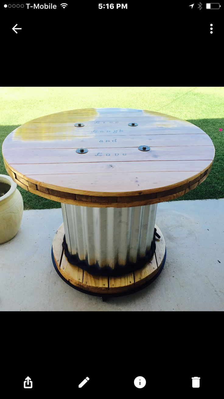 53 Best Wooden Spool Projects Images On Pinterest Cable
