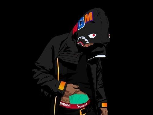 Pin by on supreme bape bape wallpapers - Hood cartoon wallpaper ...