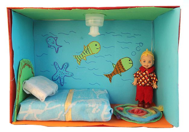 Miniature Children S Bedroom Room Box Diorama: Shoe Box Dollhouse Craft For Kids