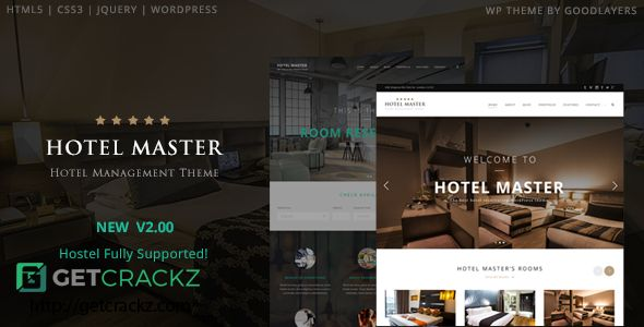 Check this Hotel Master v2.06 – Hotel Booking WordPress Theme. Hotel Master v2.06 – Hotel Booking WordPress Theme is the best hotel, resort, room reservation WordPress theme. It comes with the best room booking .... Hotel Master v2.06 – Hotel Booking WordPress Theme