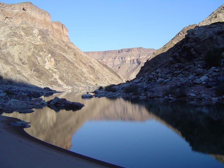 Bottom of Fish River Canyon - Namibia