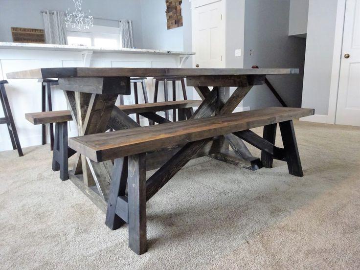 Diy Farmhouse Bench Farmhouse Bench Diy Diy Kitchen Table Diy Dining Table