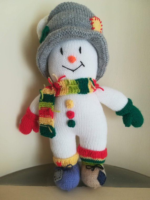 Snowman Christmas Gift Hand Knitted Toys Crochet Toys Soft Toys Personalised