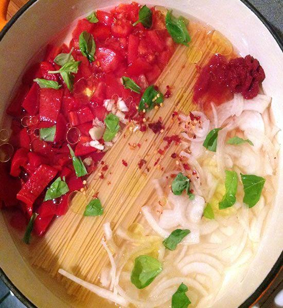 One pot pasta meals. Yummy, yummy, yummy!