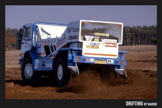 DAF Turbo Twin Drifting Parijs Dakar