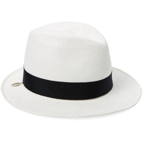 HOUSE OF LAFAYETTE Women's Kate Classic Fedora - White ($169) ❤ liked on Polyvore featuring accessories, hats, white, fedora hat, white brim hat, white fedora, brim fedora hat and curved brim hats