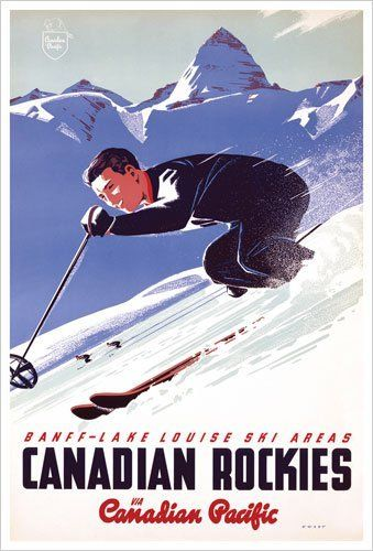 Vintage travel poster - #WINTER Canadian Rockies