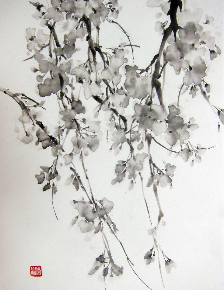 Ella Saridi - Japanese Ink Painting Sumi-e Suibokuga