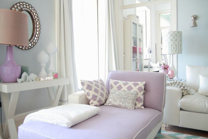 I love this shade of purple in the living room