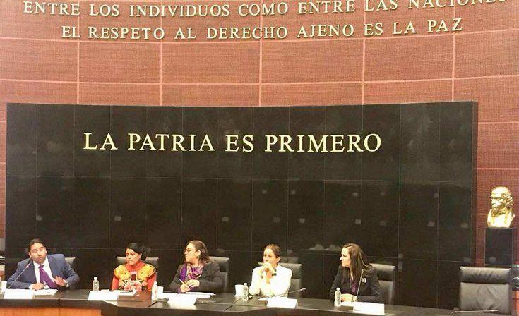 """acudió como invitada para participar en la presentación de la """"Plataforma de Armonización Legislativa: el derecho de las mujeres a una vida libre de violencia"""""""