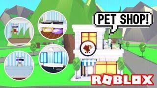 Pet Shop Design Ideas Building Hacks Roblox Adopt Me Cages Training Grooming Its Sugarcoffee Pet Shop Animal Room Shop Design