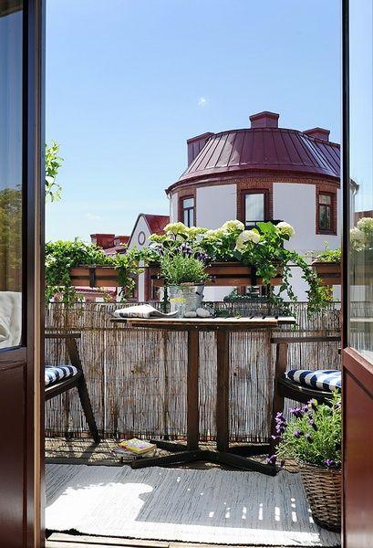 Bambusmatten Balkon Sichtschutz Ideen Blumenkasten Geländer | Balconetta |  Pinterest | Balconies