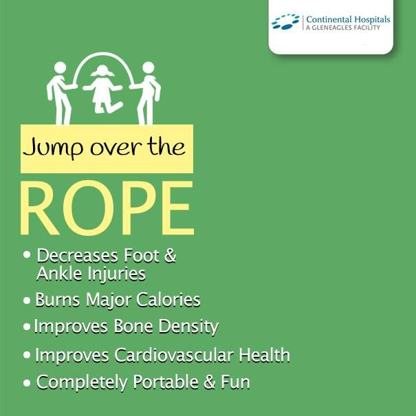 Jump up high over the rope and gain numerous health benefits! #jumpingrope