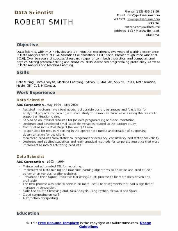 Data Scientist Resume Samples Qwikresume In 2020 Good Resume Examples Resume Skills Resume Examples