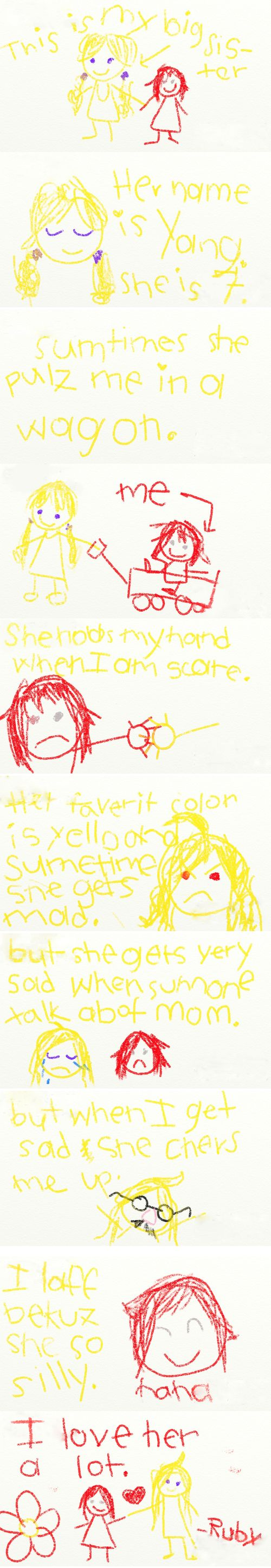 I love this soo much because you can see that Ruby wrote the yellow and Yang wrote the red in the end(look at the hand writing and you'll see Yang wrote it) <3 so cute :3