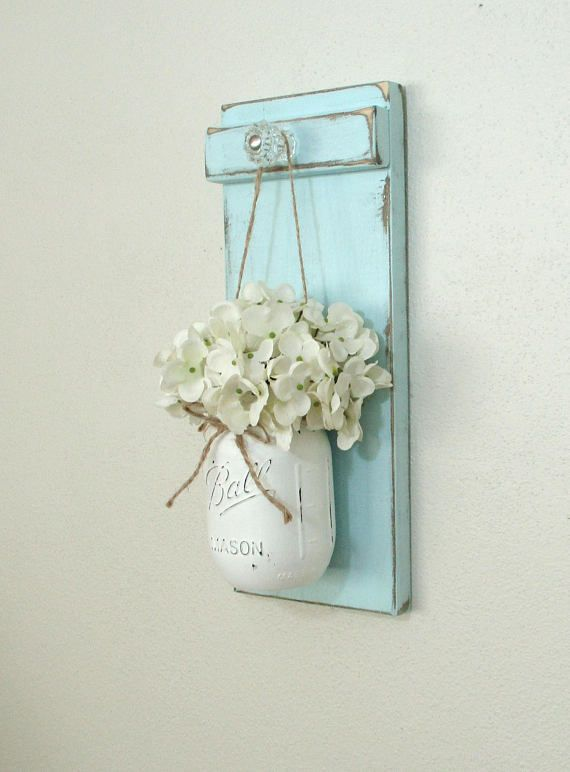 Chic Farmhouse Painted Wood Wall Decor… Hanging …