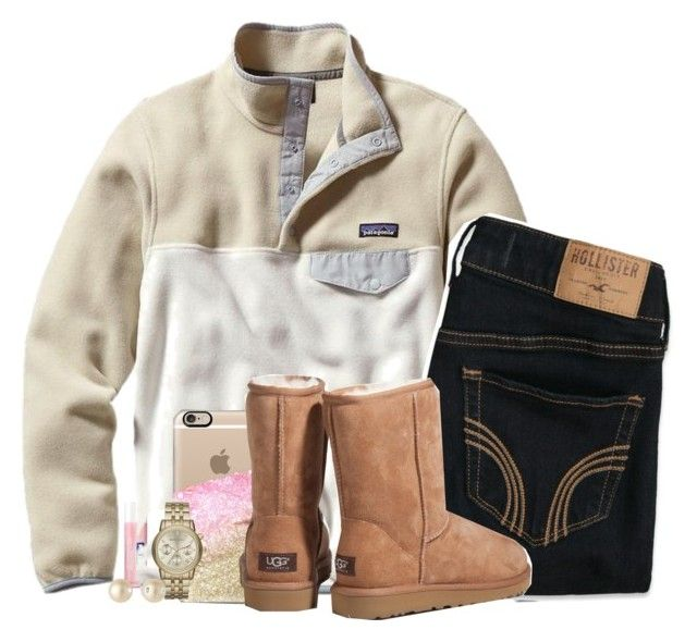 """""""outfit #1O4."""" by madisons-outfits ❤ liked on Polyvore featuring Nivea, Patagonia, Hollister Co., Monika Strigel, UGG Australia, Michael Kors, VIcenza and madisonsoutfits"""