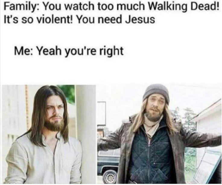 The Walking Dead #TWD #Jesus lol