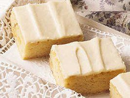 Triple Vanilla Brownies...a nice change from chocolate brownies once in a while