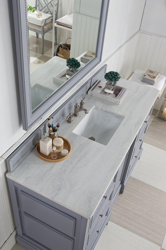 60 De Soto Silver Gray Single Sink Bathroom Vanity James Martin Vanities Vanitiesdepot C Bathroom Vanity Single Sink Bathroom Vanity Unique Bathroom Vanity