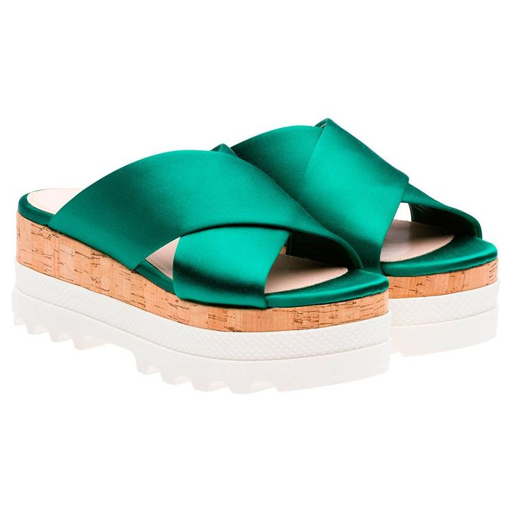 Mui Mui slider satin sandals