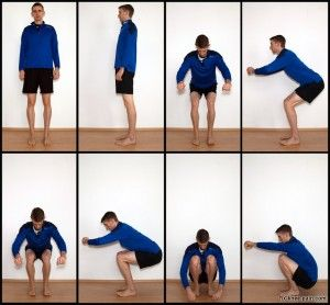Goede uitvoering van de diepe squat voor knie gezondheid en heup flexibiliteit