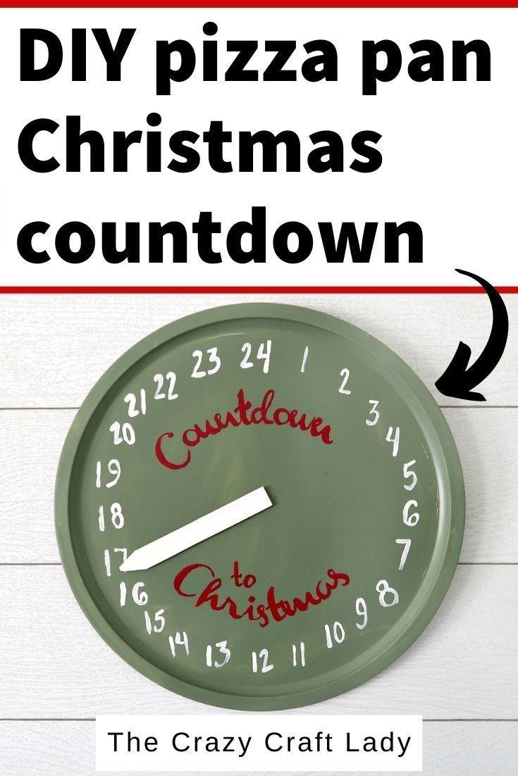 Christmas Countdown Clock Craft In 2020 Clock Craft Christmas Countdown Crafts Dollar Store Christmas Crafts