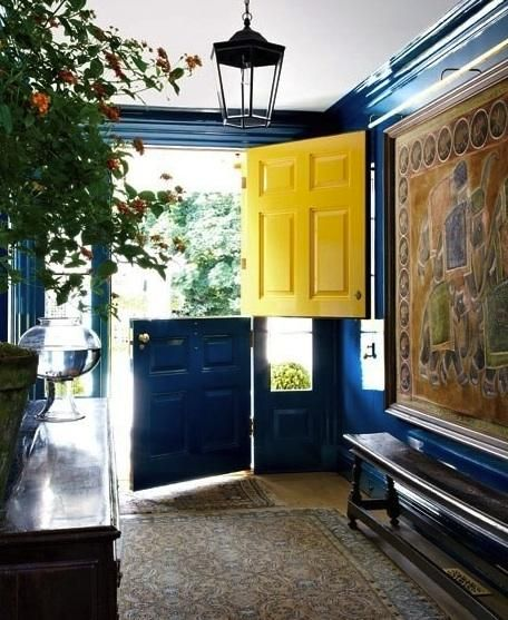 Welcomed by sunshine yellow; enveloped in blue interior