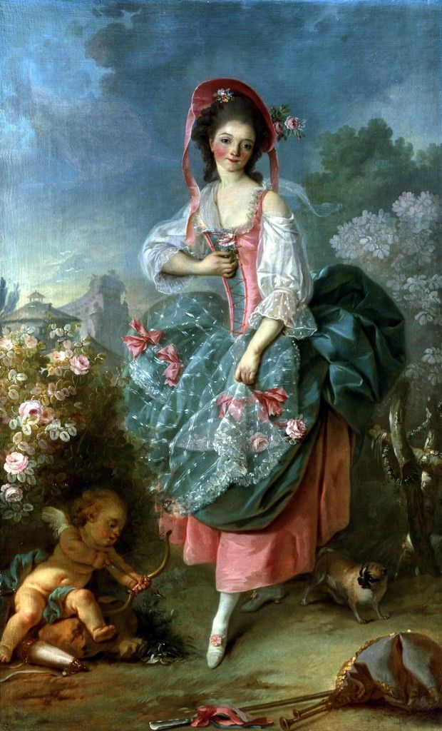 Portrait of mademoiselle guimard as terpsichore 18th for French rococo period