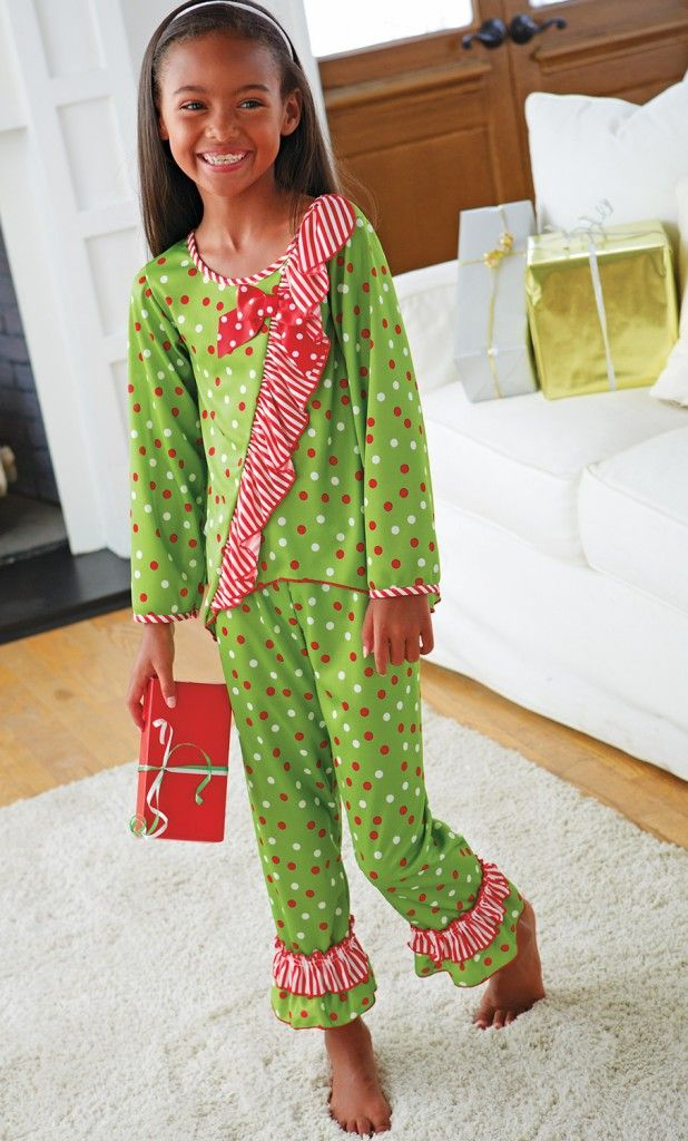 Ruffle pajamas for girls.