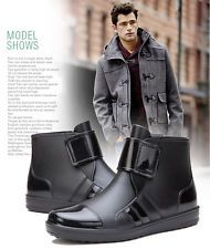 Mens Rain Boots Ankle Fashion Water Shoes New Style