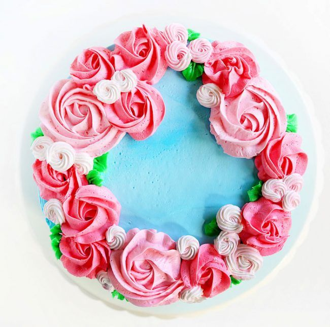 Cake Decorating Video: By far one of the most beautiful designs… yet one of the most simple! This Mother's Day Cake takes just 3 minutes to pipe out, if that! The beauty is in the contrast of color and size.
