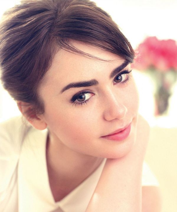 how to get lily collins eyebrows naturally