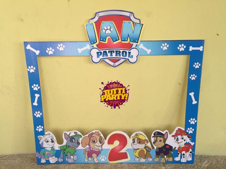 Photo frame Paw patrol, Party ideas Paw patrol, ideas fiesta patrulla de cachorros marco para fotos
