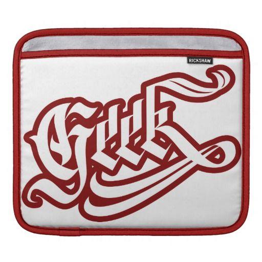 Geek iPad Sleeve #geek #lettering #LetterHype