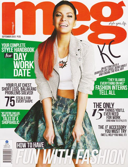 Magazines - The Charmer Pages : KC Concepcion by Mark Nicdao of Meg Magazine September 2013