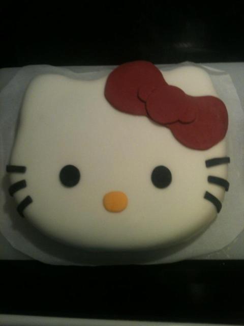 hello kitty birthday cake hello kitty cake marshmallow fondant cute ...