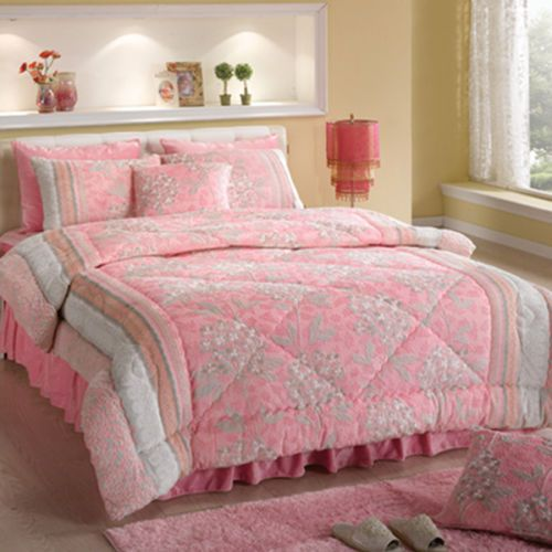 [Casamia] Color Burn Out Micro Fiber Padding Set Pink Color (Queen Size)