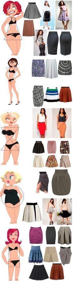 Que vestido o falda usar para realzar tu silueta