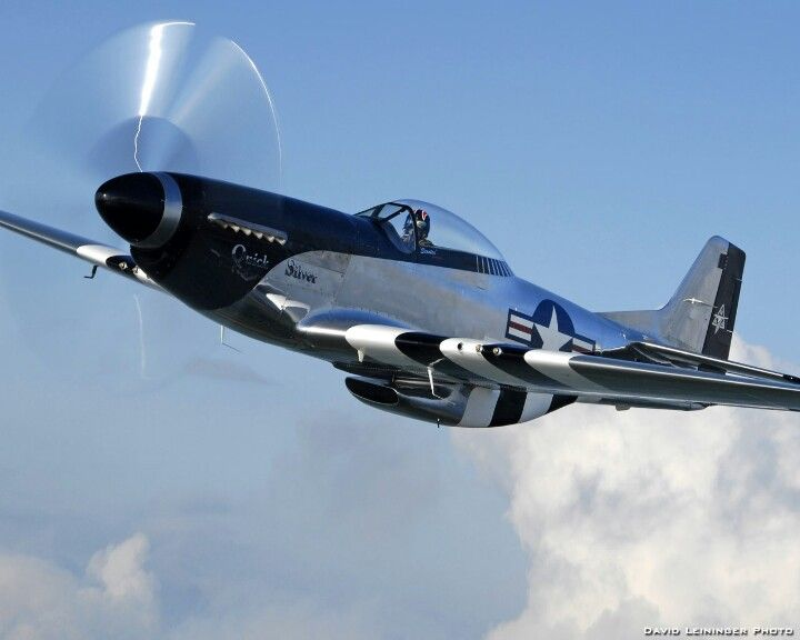 P51 Mustang, most beautiful plane ever.  Cadillac of the Sky!!!
