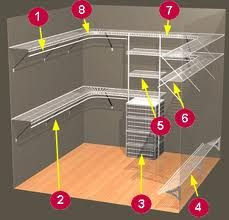 closet shelving systems - Google Search