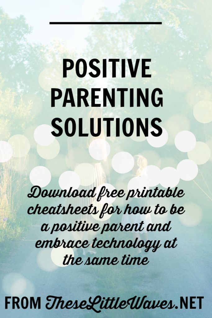 Positive parenting solutions are so important to find! It is especially important to find ways to practice positive parenting in our modern, media-rich world. Click through to read this entire article about how to parent positively while embracing technology and download the free printables. They're so helpful!