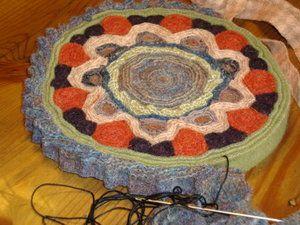 Wool Snippets Works In Progress: Standing Wool Rug