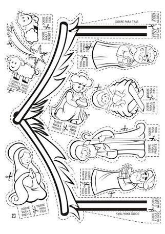 desenho de presepio para montar - Pesquisa Google