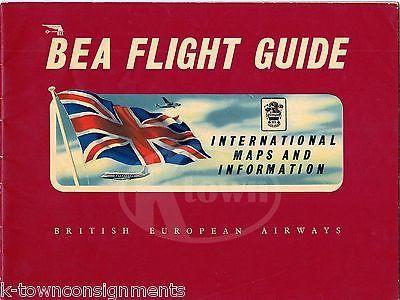 BRITISH EUROPEAN AIRWAYS VINTAGE INTERNATIONAL MAPS GRAPHIC ADVERTISING BOOKLET