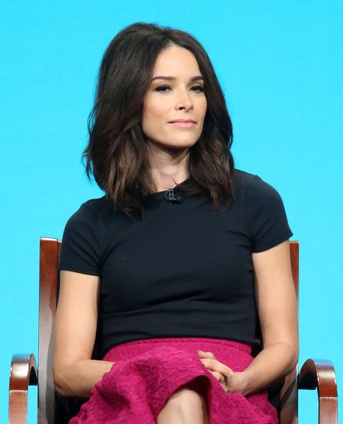 Actress Abigail Spencer speaks onstage at the 'Timeless' panel discussion during the NBCUniversal portion of the 2016 Television Critics Association Summer Tour at The Beverly Hilton Hotel on August 2, 2016 in Beverly Hills, California.