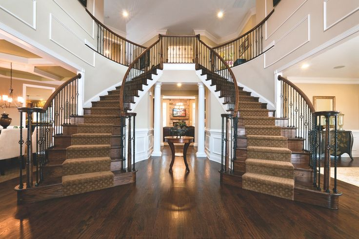 Best Front Entry Dream Home Design Double Staircase House 400 x 300
